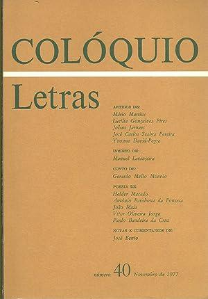 COLÓQUIO LETRAS Nº 40. Novembro de 1977: REVISTA