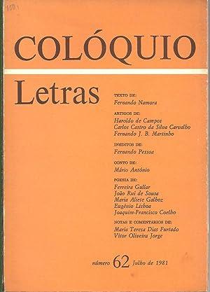 COLÓQUIO LETRAS Nº 62. Novembro de 1981: REVISTA