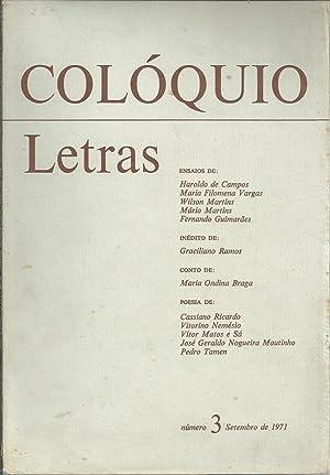 COLÓQUIO LETRAS Nº 3. Setembro de 1971: REVISTA