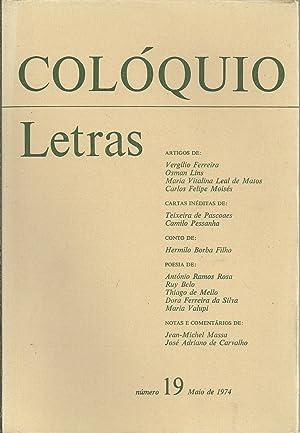 COLÓQUIO LETRAS Nº 19. Maio de 1974: REVISTA