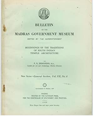 BULLETIN OF THE MADRAS GOVERNMENT MUSEUM New: SRINIVASAN, P. R.
