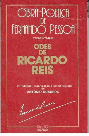 ODES DE RICARDO REIS Seguidos de FERNANDO: PESSOA, Fernando (1888-1935)