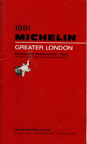 MICHELIN GREATER LONDON 1981: Hotels and Restaurants - Plan