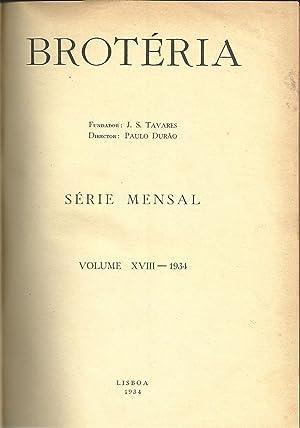 BROTÉRIA. Vol. XVIII e Vol. XIX