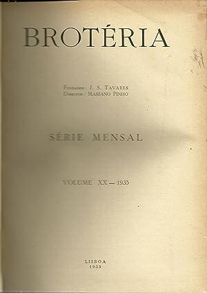 BROTÉRIA. Vol. XX e Vol. XXI