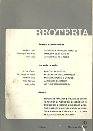 BROTÉRIA. nº 10 - Vol. LXXXVII. Outubro: REVISTA