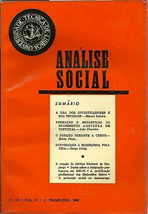ANÁLISE SOCIAL N 13. Vol. IV: REVISTA