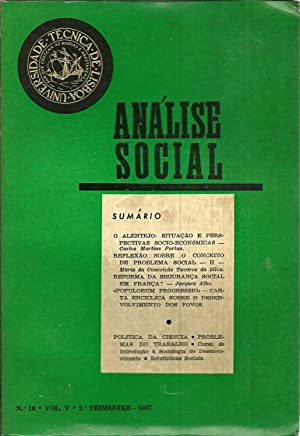 ANÁLISE SOCIAL N 18. Vol. V: REVISTA