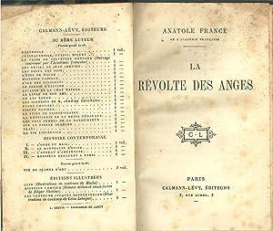 LA RÉVOLTE DES ANGES: FRANCE, Anatole (1844-1924)