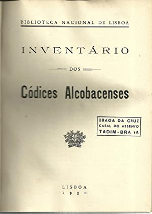 INVENTÁRIO DOS CÓDICES ALCOBACENSES