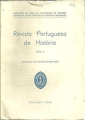 REVISTA PORTUGUESA DE HISTÓRIA. Tomo X -