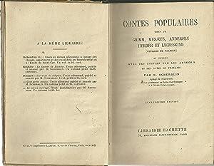 CONTES POPULAIRES TITÉS DE GRIMM, MUSAEUS, ANDERSEN,: SCHERDLIN, E.