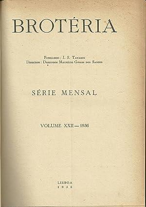 BROTÉRIA. Vol. XXII e Vol. XXIII