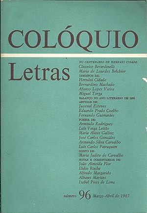 COLÓQUIO LETRAS Nº 96 Março - Abril: REVISTA