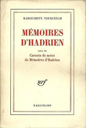MÉMOIRES D'HADRIEN Suivi de CARNETS DE NOTES: YOURCENAR, Marguerite (1903-1987)