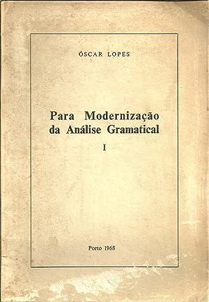 PARA MODERNIZAÇÃO DA ANÁLISE GRAMATICAL: LOPES, Óscar
