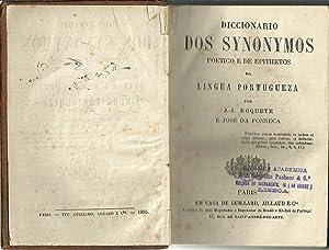 DICCIONARIO DOS SYNONYMOS POETICO E DE EPITHETOS: ROQUETE & FONSECA,