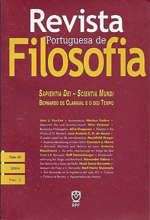 REVISTA PORTUGUESA DE FILOSOFIA: Sapientia Dei -: VILA-CHÃ, João J.