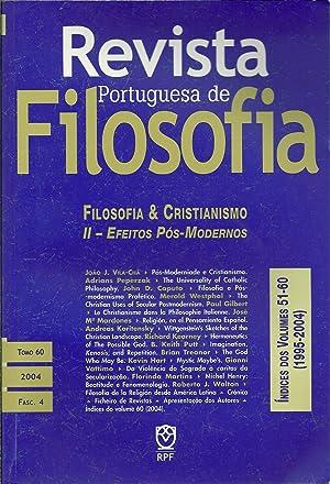 REVISTA PORTUGUESA DE FILOSOFIA: Filosofia & Cristianismo.: VILA-CHÃ, João J.