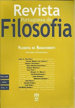 REVISTA PORTUGUESA DE FILOSOFIA: Filosofia do Renascimento: VILA-CHÃ, João J.
