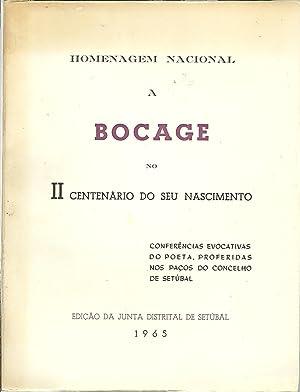 HOMENAGEM NACIONAL A BOCAGE NO II CENTENÁRIO