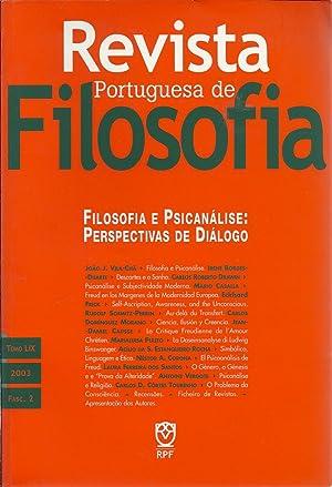 REVISTA PORTUGUESA DE FILOSOFIA: Filosofia e Psicanálise: VILA-CHÃ, João J.