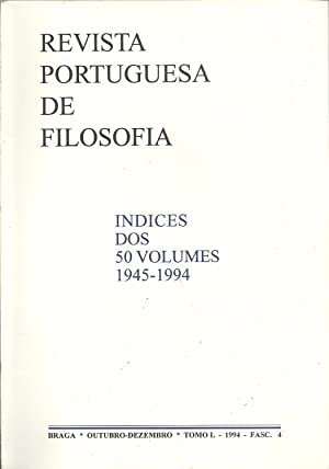 REVISTA PORTUGUESA DE FILOSOFIA: Indices dos 5