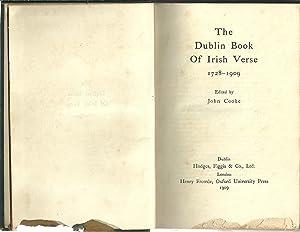 THE DUBLIN BOOK OF IRISH VERSE 1728-1909: COOKE, John (Edited)