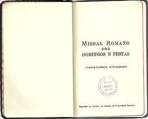 MISSAL ROMANO DOS DOMINGOS E FESTAS (extraído: BARROS, Monsenhor Freitas