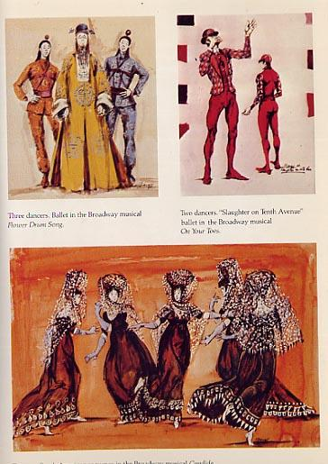 Broadway And Hollywood, Costumes Designed by