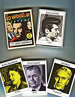 The Ed Wood, Jr. Players. 36 Trading Cards