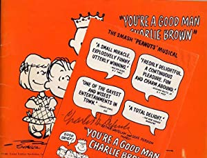 You're a Good Man Charlie Brown Theatre Souvenir Program and Signed Herald