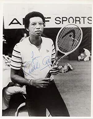 Inscribed and Signed Arthur Ashe Portrait