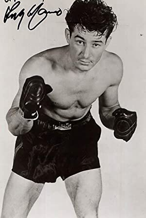 Inscribed and Signed Portrait of Rocky Graziano