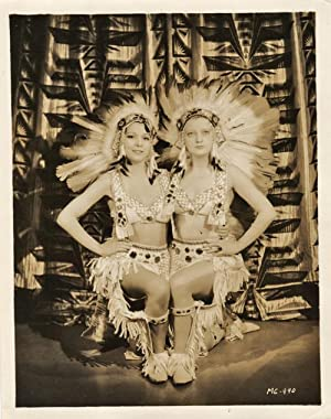Rare Original Publicity Portrait of Two Chorus Girls Dressed as Indians