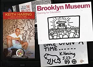 Keith Haring Postcards and a Button
