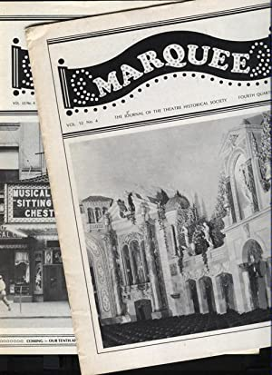 Marquee. The Journal of the Theatre Historical Society