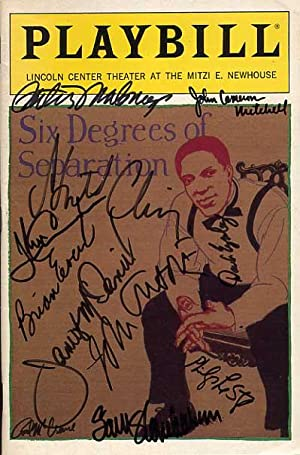 Six Degrees Of Separation Signed Playbill: Guare, John & Shapiro, Mel, Adaption By