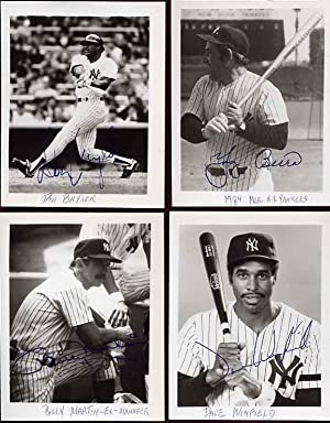 Signed Photos of the 1983-1984 New York Yankees Baseball Team