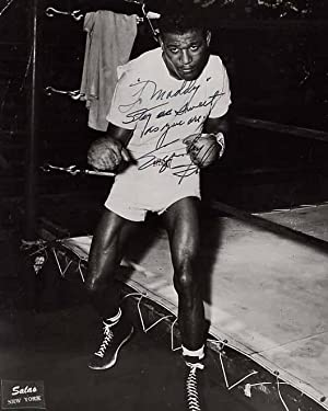 Inscribed and Signed Sugar Ray Robinson Photograph