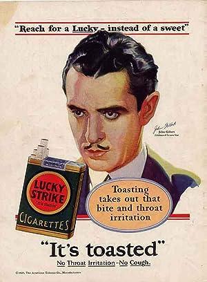 John Gilbert Lucky Strike Cigarette Ad: Gilbert, John