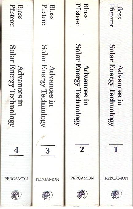 Advances In Solar Energy Technology In Four Volumes