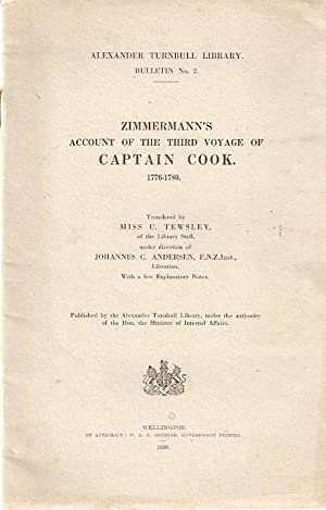 Zimmermann's Account of the Third Voyage of