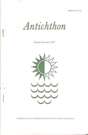Antichthon. Volume Seventeen 1983. Journal of the