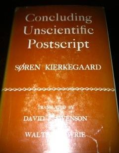 Concluding Unscientific Postscript Kierkegaard, Soren Fine Hardcover