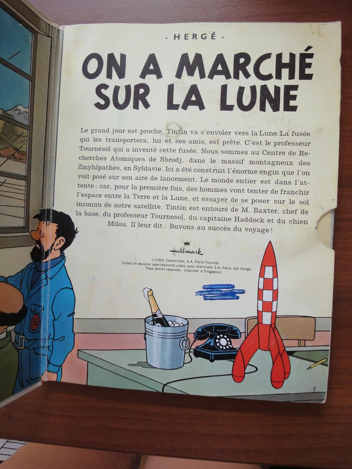 Tintin Pop-Up Book in French: La Collection Pop-Hop Tintin (Un Livre Anime Tintin) - On a Marche ...
