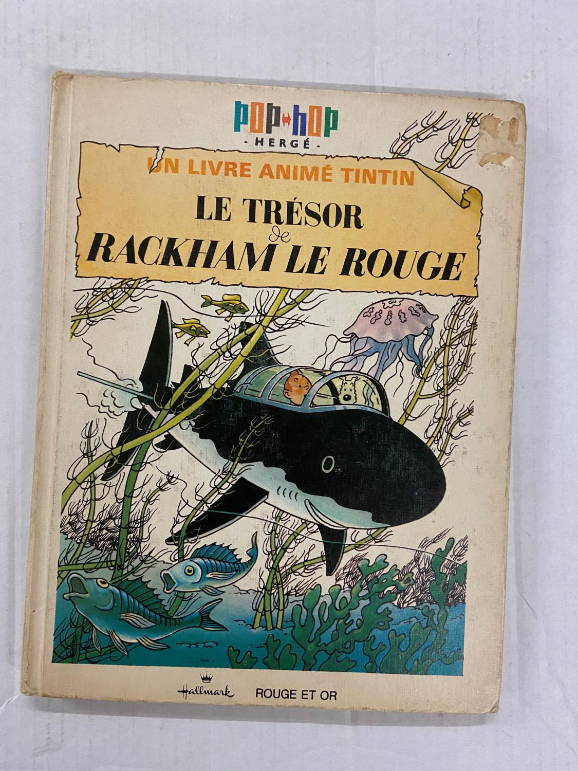 Tintin Pop Up Book In French La Collection