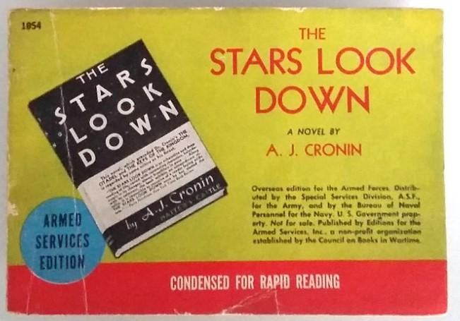 The Stars Look Down A.J. Cronin Very Good Softcover