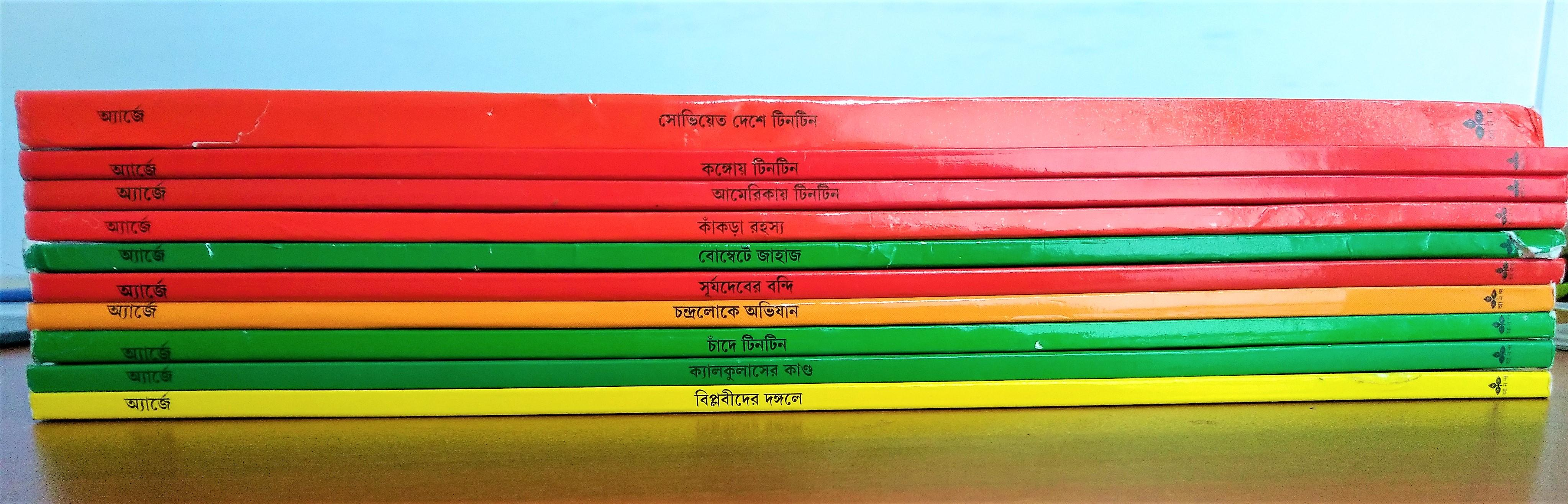 Set of 10 Tintin Foreign Language Books from