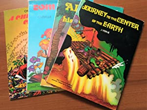 Set of 4 European Graphic Novels : Aladdin and His Magic Lamp, Tom Thumb (Ch. Perrault), Journey ...